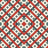 Перекрывая прямоугольники и предпосылка квадратов Безшовный дизайн картины с повторенными диаграммами верхнего слоя геометрически иллюстрация вектора