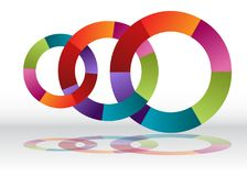 Перекрывая рециркулируя диаграмма колеса 3 Стоковые Изображения