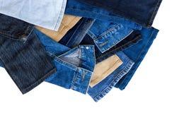 Перекрытие лимбов джинсов Стоковая Фотография RF