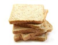 Перекрытие пшеницы хлеба на белой предпосылке Стоковая Фотография RF