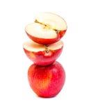 Перекрытие Яблока красное изолированное на белой предпосылке Стоковая Фотография RF