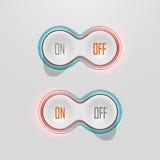 Переключатели кнопки с backlight Время от времени шток Стоковое фото RF