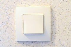 Переключатель белого света на стене Стоковое Изображение
