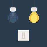 Переключатель и электрические лампочки бесплатная иллюстрация