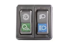 Переключатель кнопки автомобиля Стоковая Фотография RF