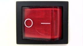 Переключатель мощности - включеный-выключеный сток-видео
