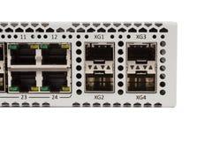 Переключатель локальных сетей гигабита с шлицем SFP Стоковые Фотографии RF