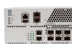 Переключатель локальных сетей гигабита с шлицем SFP Стоковые Изображения RF