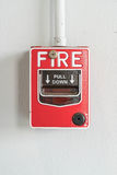 Переключатель пожарной сигнализации Стоковые Изображения RF
