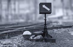 Переключатель руководства железнодорожный Стоковое фото RF