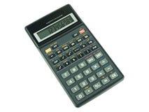Переключенный на научном калькуляторе на белой предпосылке Стоковое фото RF