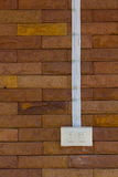Переключите кирпичную стену силы Стоковые Изображения RF