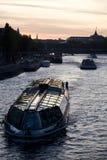 перемет реки paris шлюпок Стоковые Фото