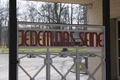 Перемет Jedem das - концентрационный лагерь Buchenwald стоковое изображение
