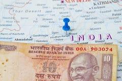 Перемещая Индия Стоковое Изображение