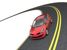 перемещение автомобиля иллюстрация вектора