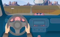 Перемещение автомобилем к Мексике Стоковое Фото