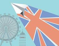 Перемещение Англии вектора Стоковое Изображение