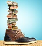 Перемещение, ботинок Стоковое Изображение RF