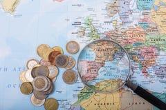 Перемещение бюджета Стоковые Изображения