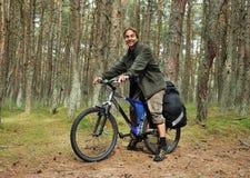 перемещение велосипеда Стоковое Фото