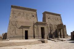 перемещение виска руин philae Египета назначения Стоковые Изображения RF