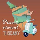 Перемещение вокруг Тосканы Стоковое Фото