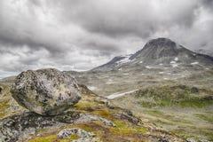Перемещение в горах Норвегии на лете Стоковое Изображение RF
