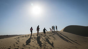 Перемещение в пустыне, Fayoum, Египте Стоковое Изображение RF