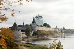 Перемещение в России Пскове Кремле Стоковое фото RF