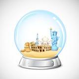 перемещение глобуса Стоковое Изображение