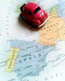 Перемещение Европа - Франция, Испания, Португалия Стоковое Изображение