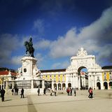 Перемещение Европы места lisbonne Португалии Лиссабона открывает Стоковые Изображения