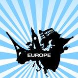 перемещение европы назначений иллюстрация штока