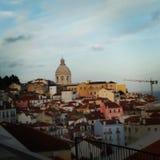 Перемещение Европы Португалии lisbonne Лиссабона открывает дом цвета Стоковые Фото