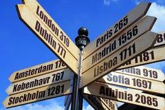перемещение знака европы города Стоковое Фото
