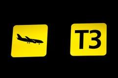 перемещение знака плоскости летания авиапорта Стоковое Изображение RF