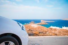 перемещение игрушки карты европы автомобиля Летний отпуск и концепция автомобильного путешествия Стоковое Изображение