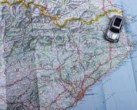 перемещение игрушки карты европы автомобиля Стоковые Изображения