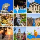 перемещение изображений Греции коллажа Стоковые Изображения RF