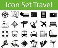 Перемещение иконы установленное Стоковое Изображение