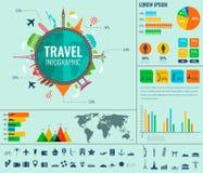 Перемещение и туризм Infographic установило с диаграммами и другими элементами вектор Стоковые Изображения RF