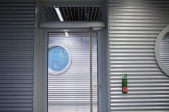 Перемещение каникул, таможни авиапорта, дверца входного люка Стоковое Изображение RF