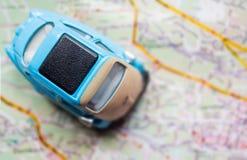 перемещение карты dublin принципиальной схемы города автомобиля малое стоковые фотографии rf
