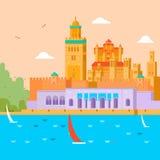 перемещение карты dublin принципиальной схемы города автомобиля малое Путешествуйте в Марокко, исследовании страны и своя культур Стоковые Изображения