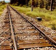 Перемещение концепции надежды пути перспективы дороги поезда рельса вперед стоковые фото
