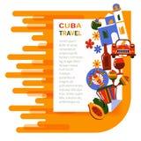 Перемещение Кубы знамени Стоковые Фотографии RF