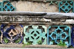Перемещение к Бангкоку, Таиланду Часть украшения стены Стоковое фото RF