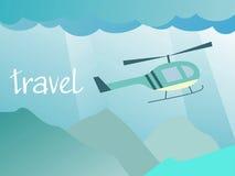 Перемещение к вертолету Стоковая Фотография