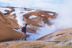 Перемещение к Исландии, активный туризм Стоковое фото RF
